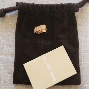 Michael Kors Rose Gold Crisscross Ring